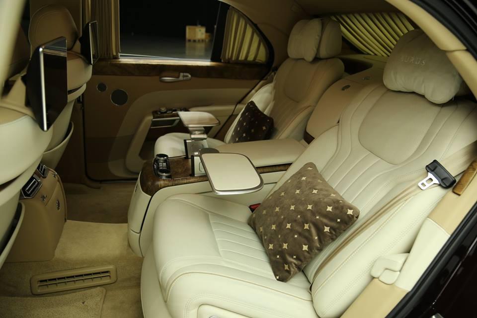 limuzyna aurus senat wnętrze