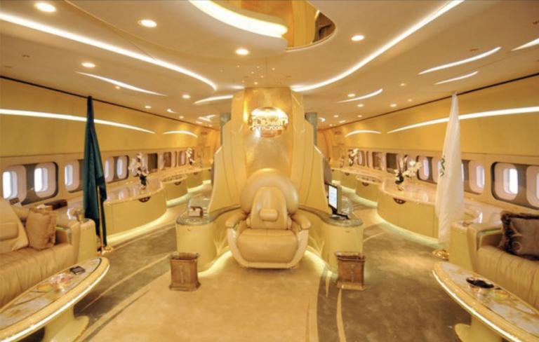 luxurious plane