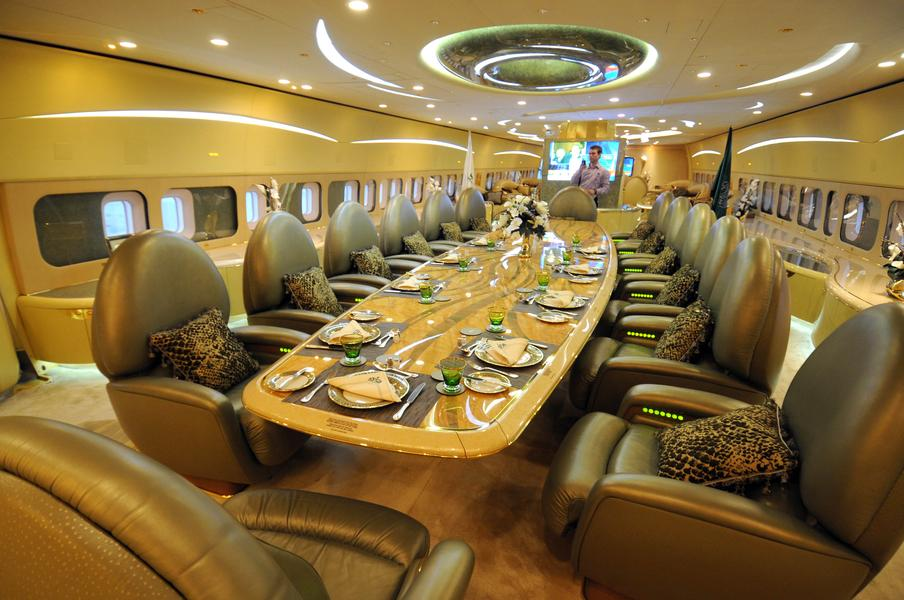 Wnętrze luksusowego samolotu